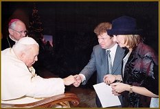 Igor Babailov and Pope John Paul II